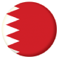 Bahrain Country Flag 58mm Button Badge